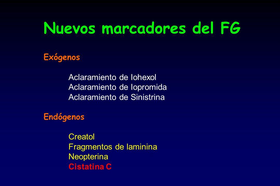 Nuevos marcadores del FG