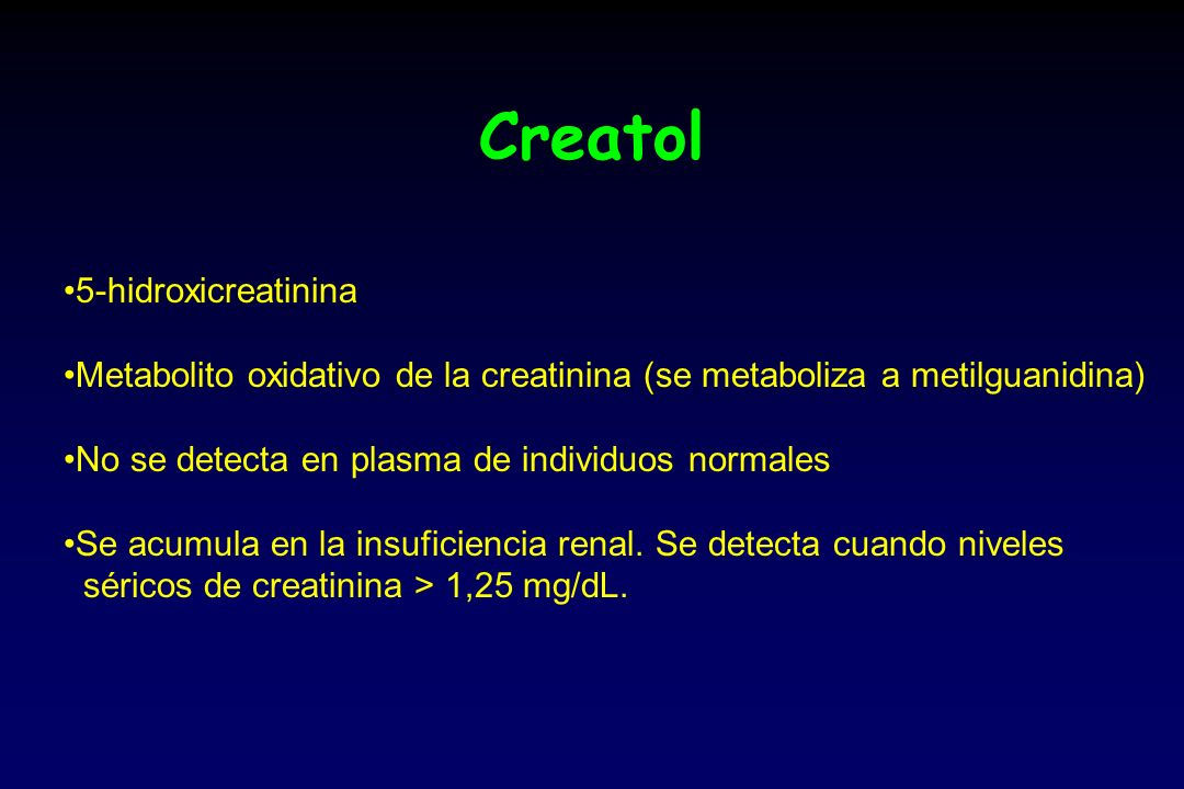 Creatol 5-hidroxicreatinina
