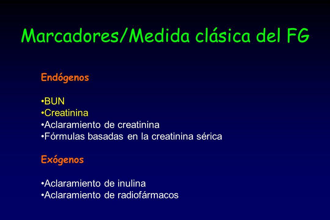 Marcadores/Medida clásica del FG