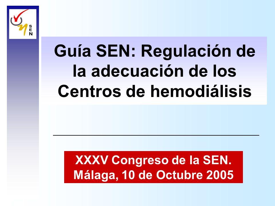 Guía SEN: Regulación de la adecuación de los Centros de hemodiálisis