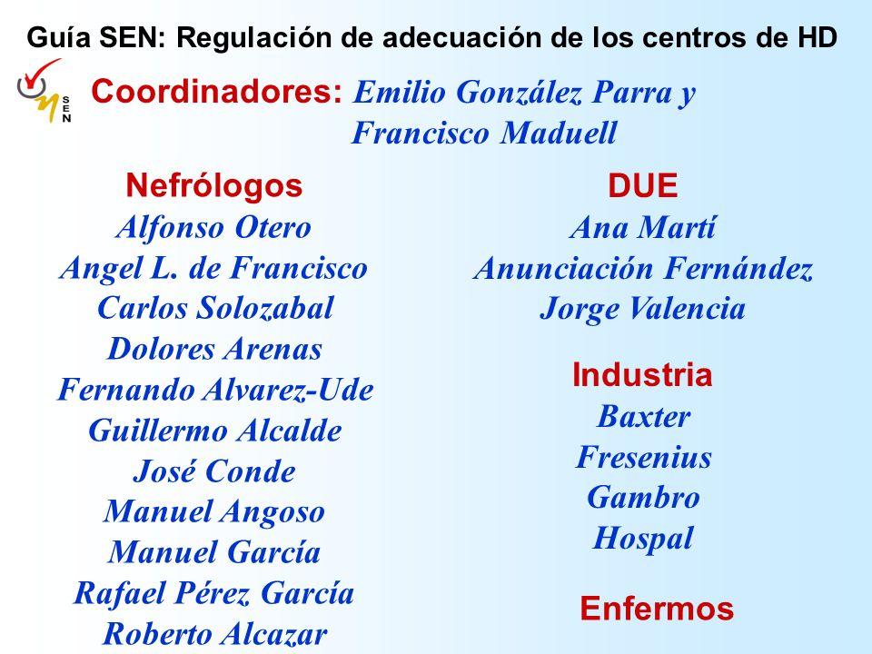 Coordinadores: Emilio González Parra y Francisco Maduell