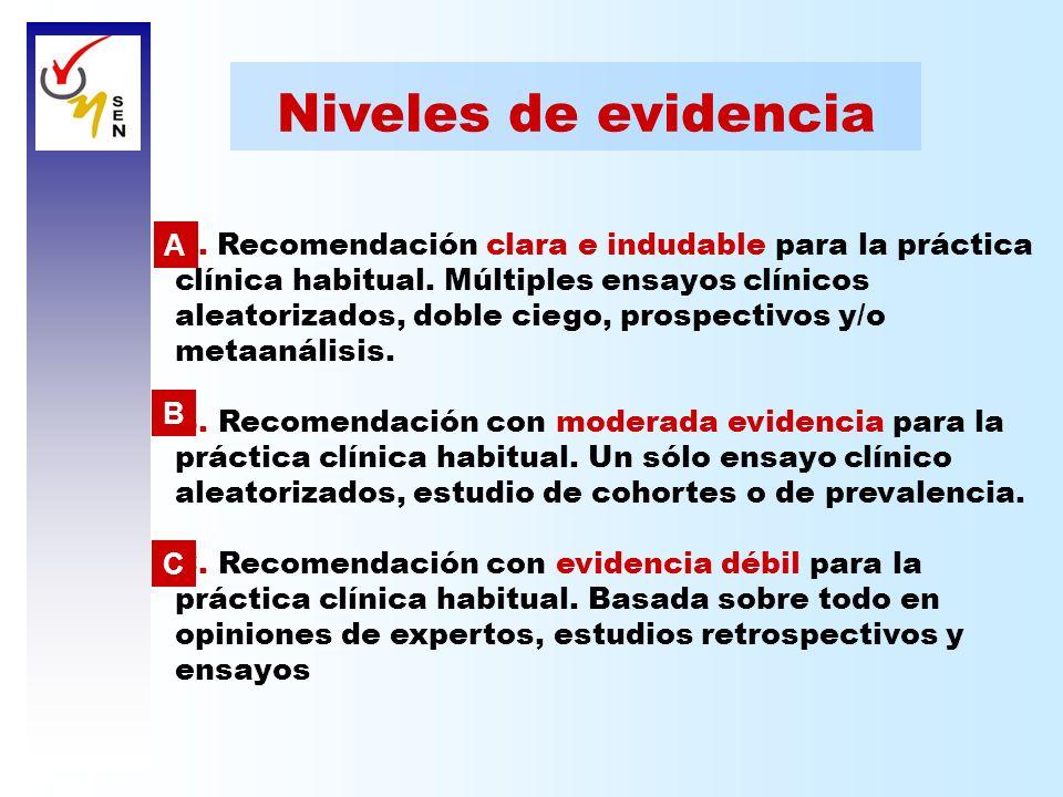 Niveles de evidencia A.