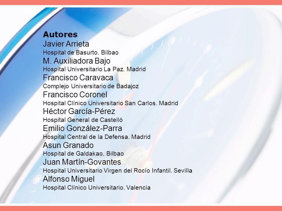 Autores Javier Arrieta Hospital de Basurto. Bilbao M