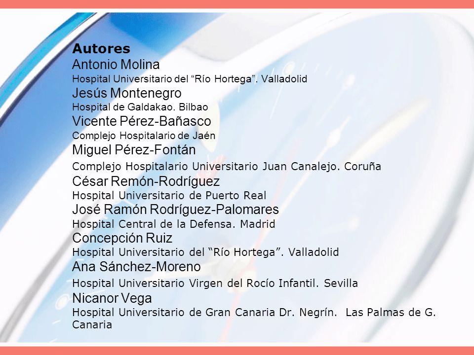 Autores Antonio Molina Hospital Universitario del Río Hortega
