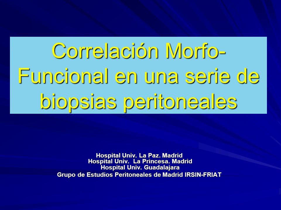 Correlación Morfo-Funcional en una serie de biopsias peritoneales
