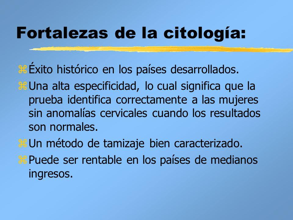 Fortalezas de la citología: