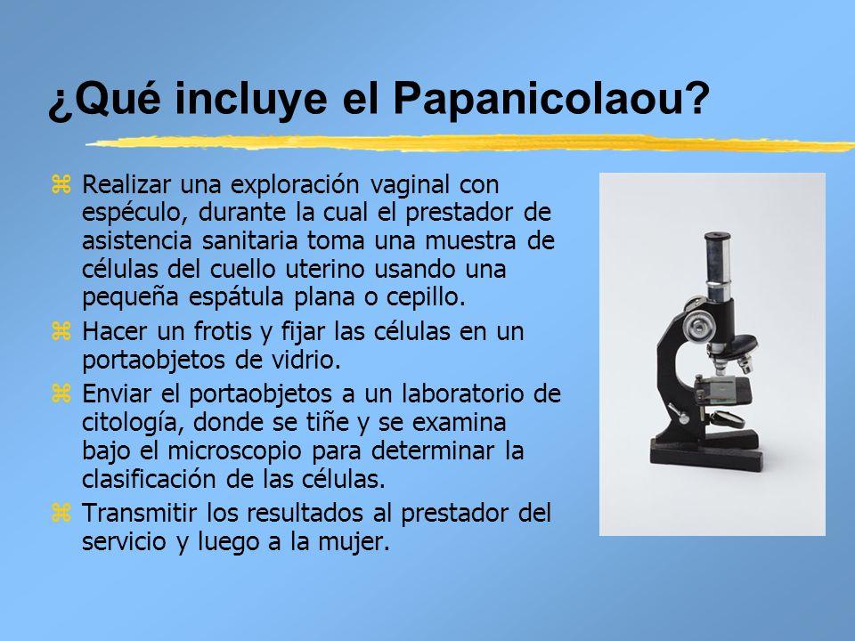 ¿Qué incluye el Papanicolaou