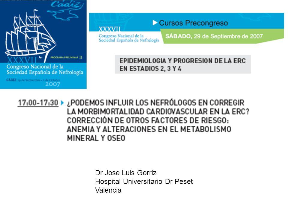 Dr Jose Luis Gorriz Hospital Universitario Dr Peset Valencia