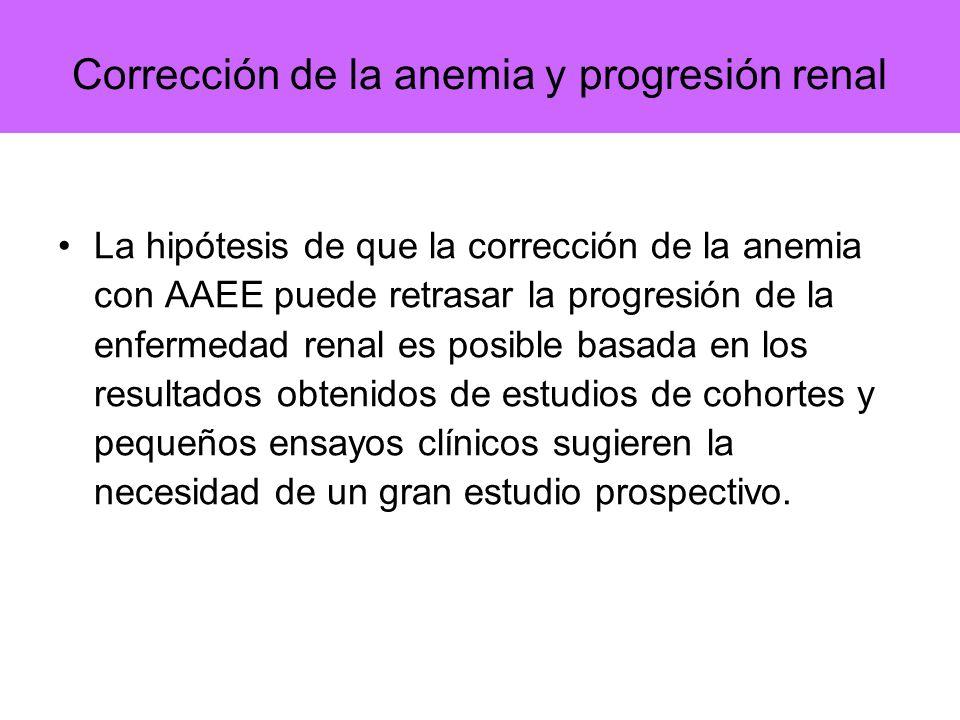 Corrección de la anemia y progresión renal
