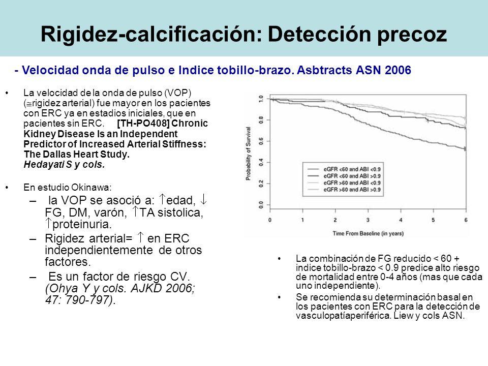 Rigidez-calcificación: Detección precoz