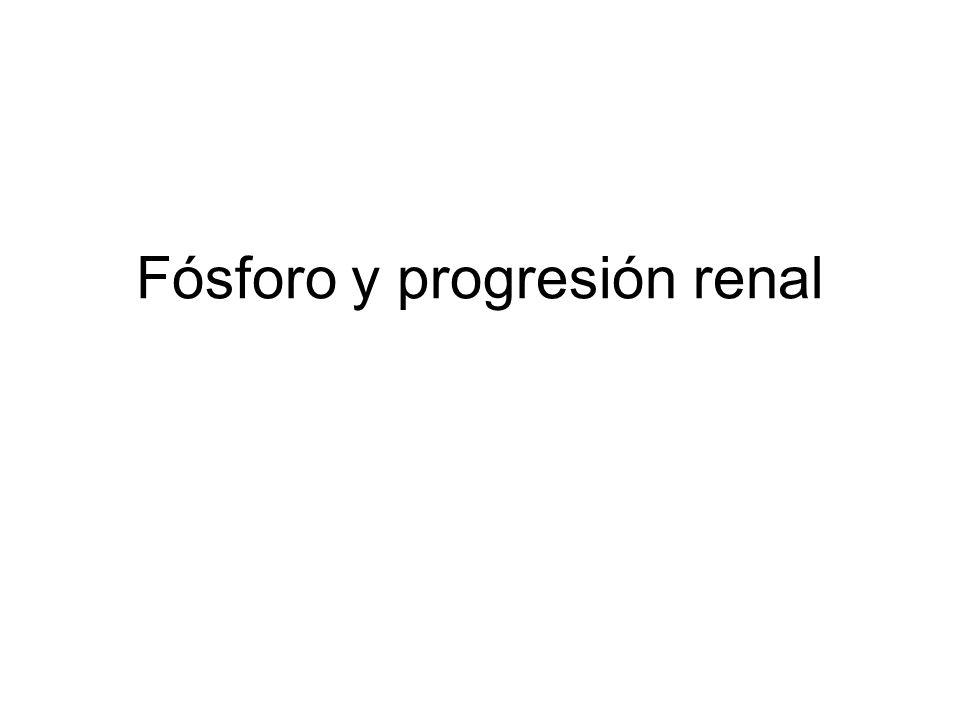Fósforo y progresión renal