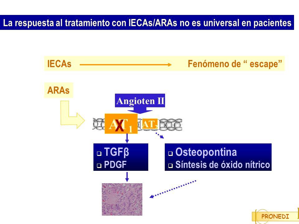 La respuesta al tratamiento con IECAs/ARAs no es universal en pacientes