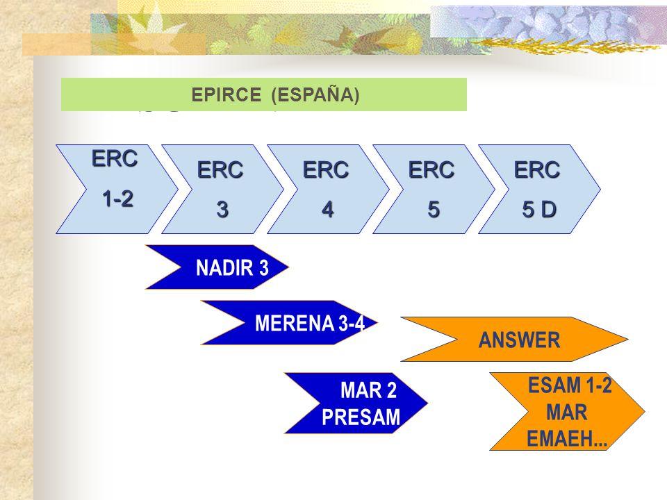 RESUMEN ERC 1-2 ERC 3 ERC 4 ERC 5 ERC 5 D NADIR 3 MERENA 3-4 ANSWER
