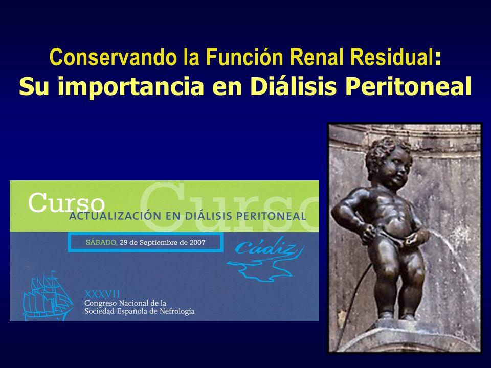 Conservando la Función Renal Residual: Su importancia en Diálisis Peritoneal