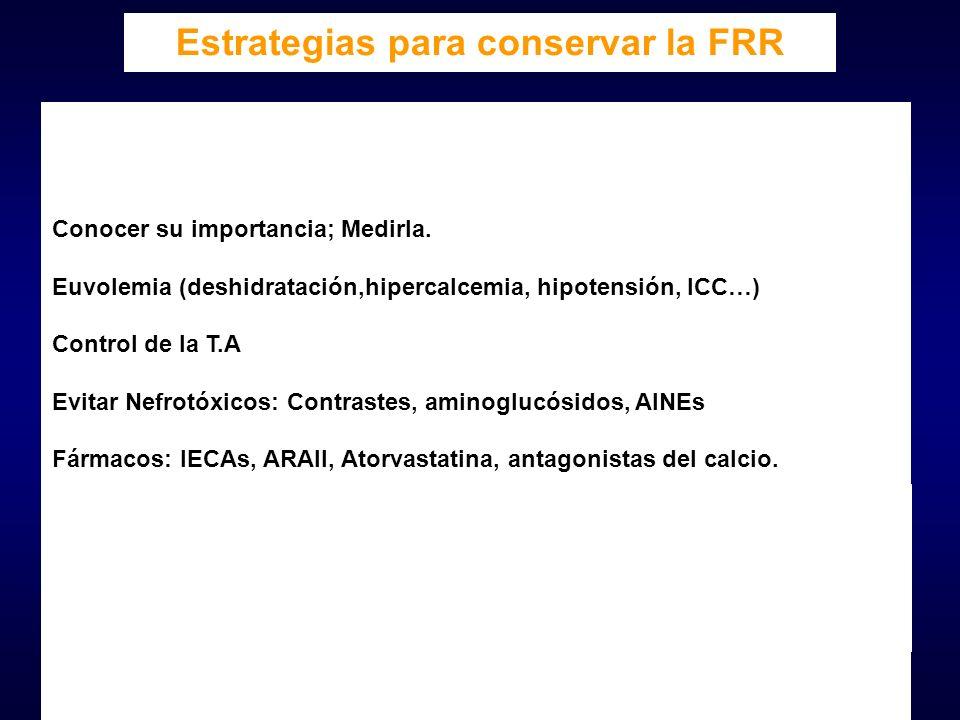 Estrategias para conservar la FRR