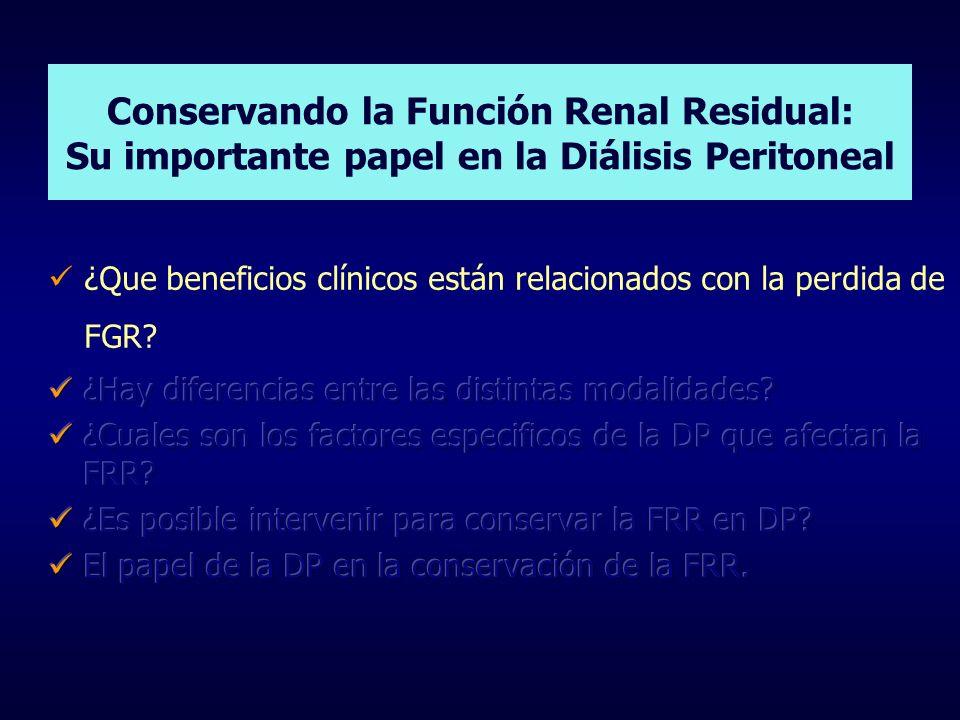 Conservando la Función Renal Residual: Su importante papel en la Diálisis Peritoneal
