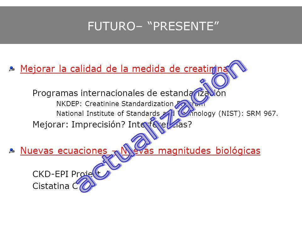 actualización FUTURO– PRESENTE