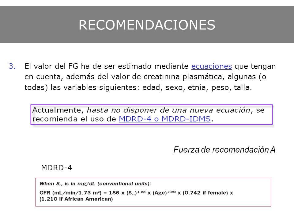 Fuerza de recomendación A