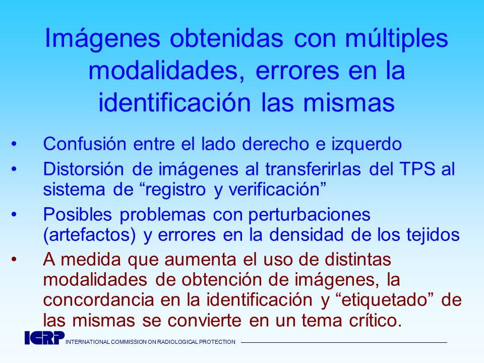 Imágenes obtenidas con múltiples modalidades, errores en la identificación las mismas