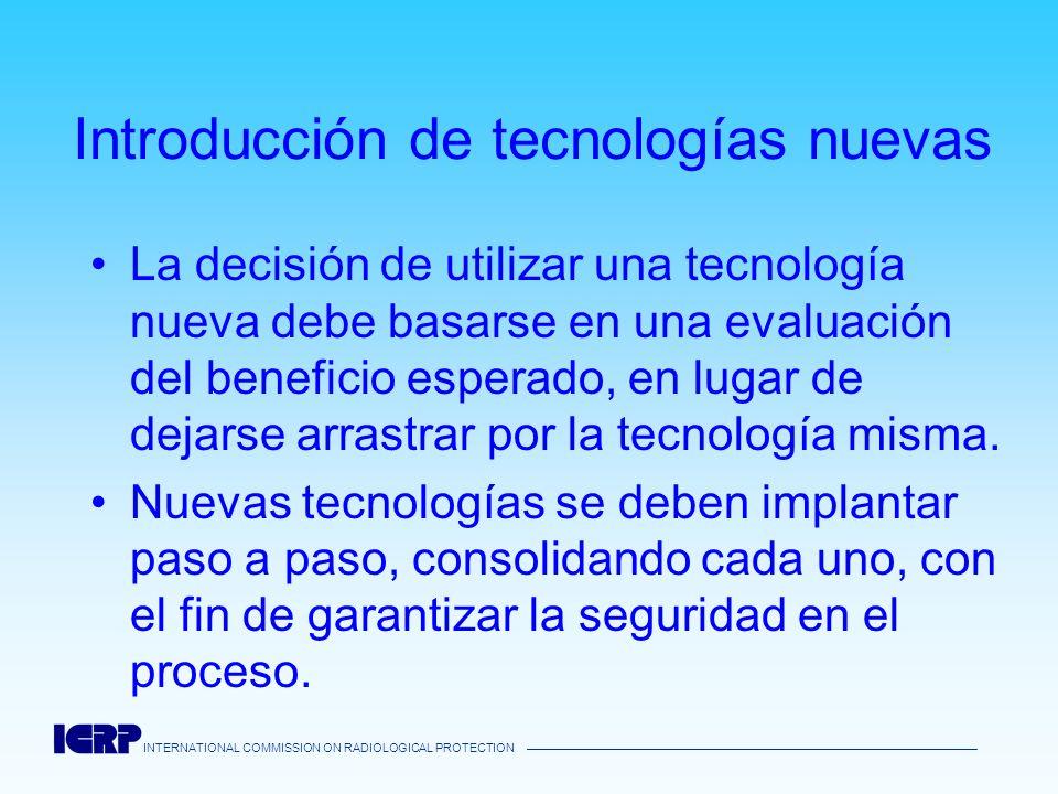 Introducción de tecnologías nuevas