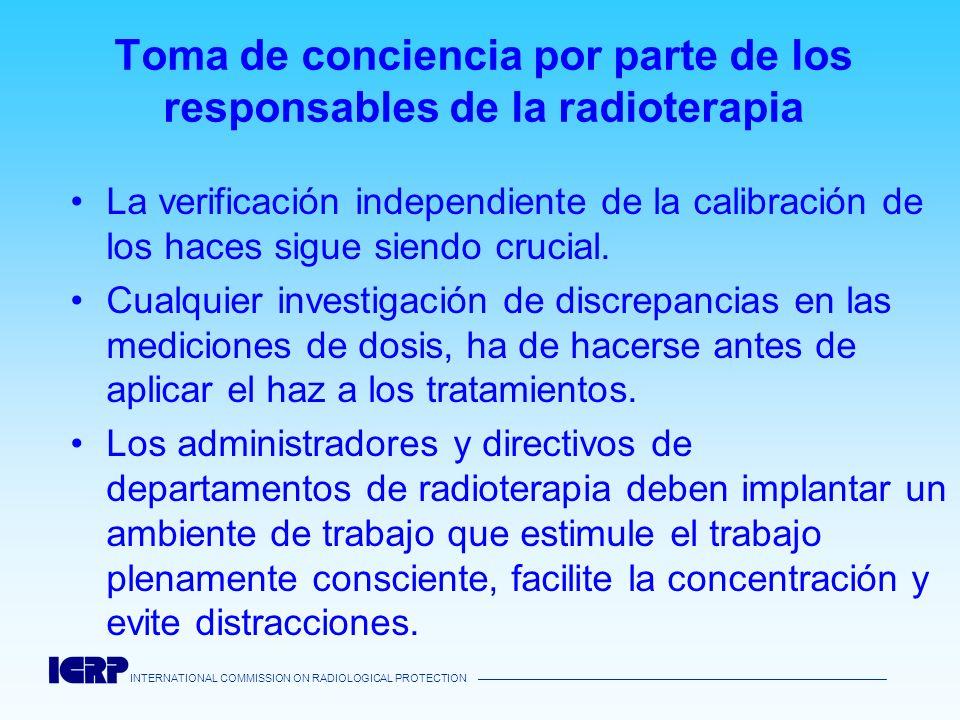 Toma de conciencia por parte de los responsables de la radioterapia