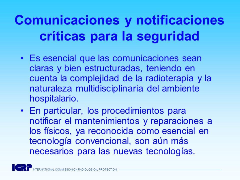 Comunicaciones y notificaciones críticas para la seguridad