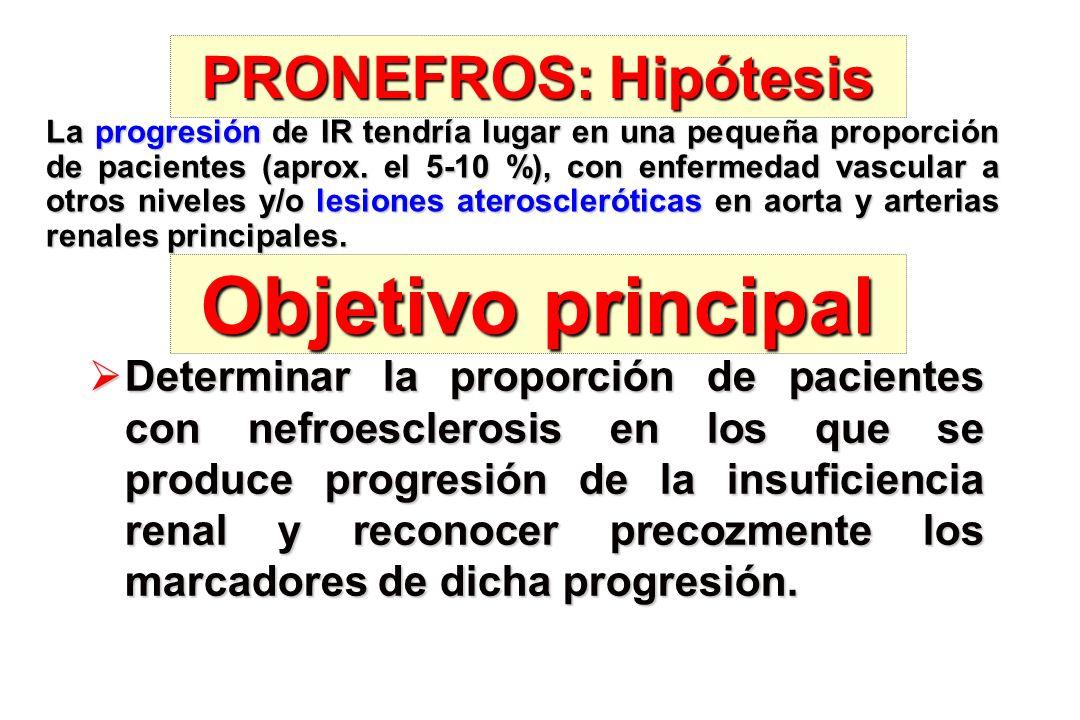 Objetivo principal PRONEFROS: Hipótesis