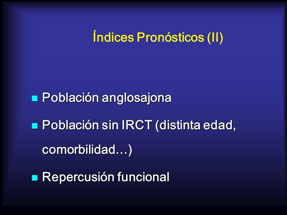 Índices Pronósticos (II)