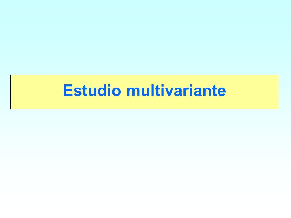Estudio multivariante