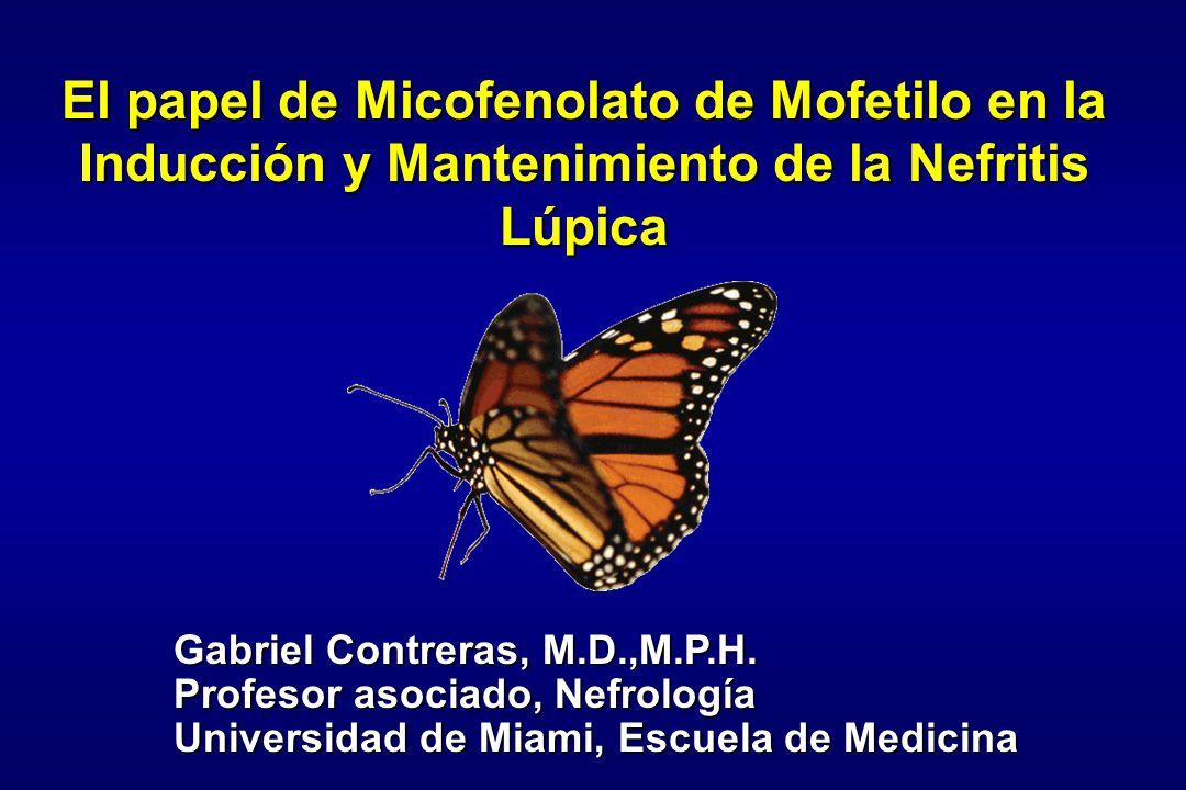 El papel de Micofenolato de Mofetilo en la Inducción y Mantenimiento de la Nefritis Lúpica