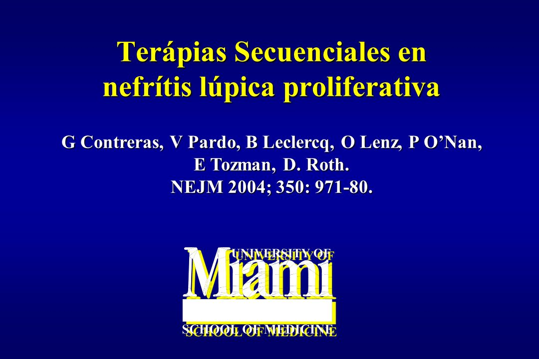 Terápias Secuenciales en nefrítis lúpica proliferativa