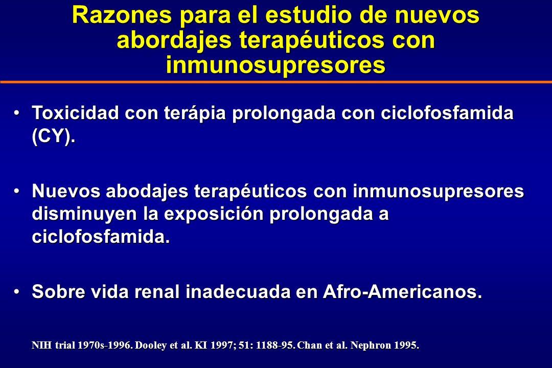 Razones para el estudio de nuevos abordajes terapéuticos con inmunosupresores