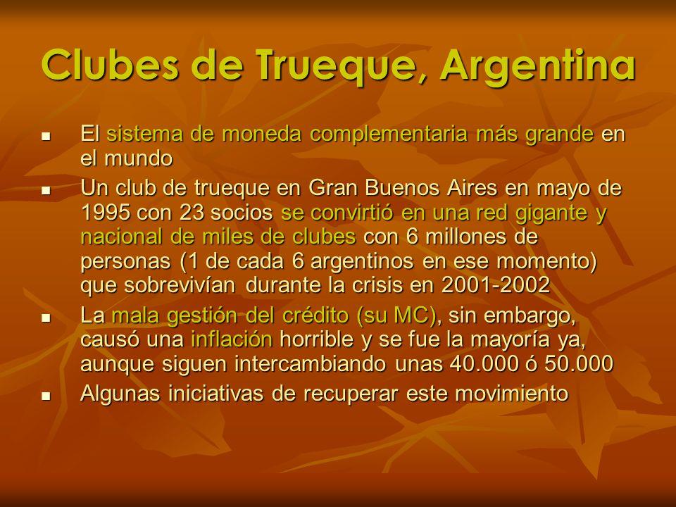Clubes de Trueque, Argentina