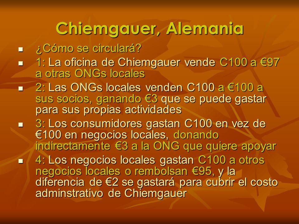 Chiemgauer, Alemania ¿Cómo se circulará