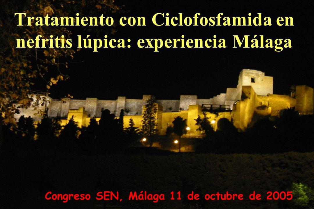 Tratamiento con Ciclofosfamida en nefritis lúpica: experiencia Málaga