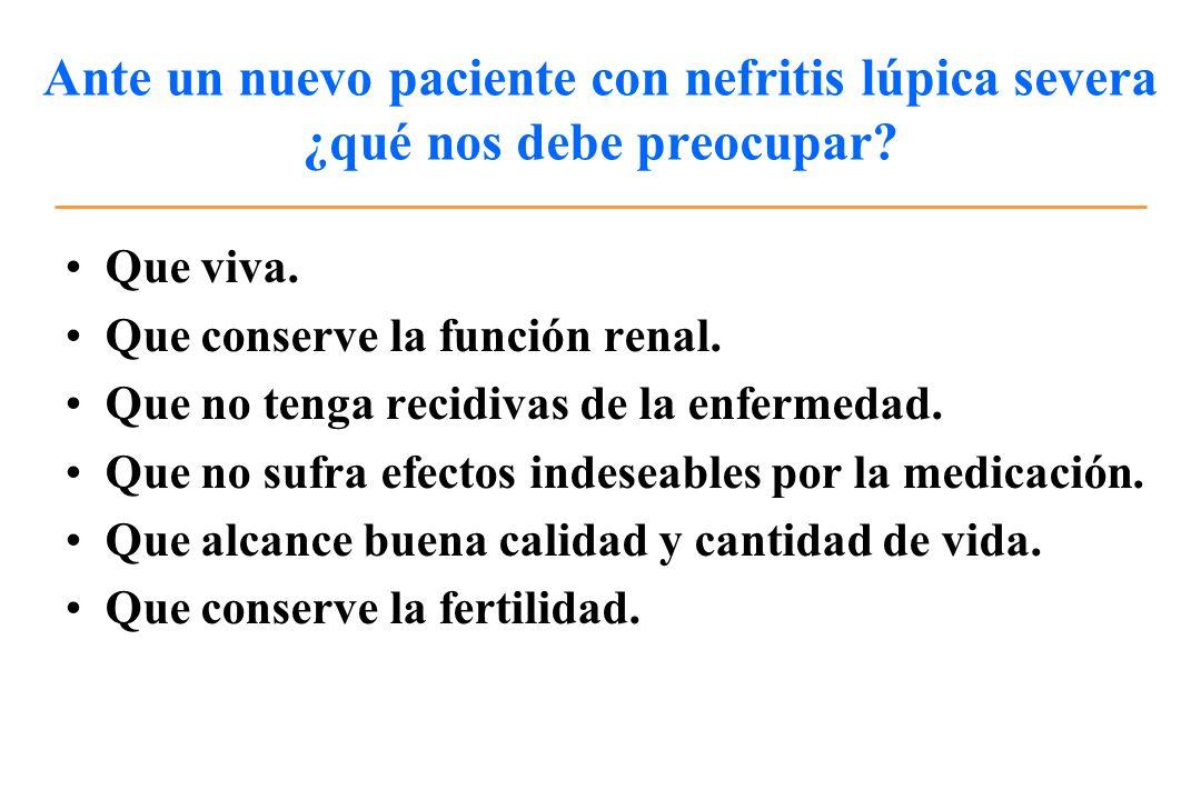 Ante un nuevo paciente con nefritis lúpica severa ¿qué nos debe preocupar