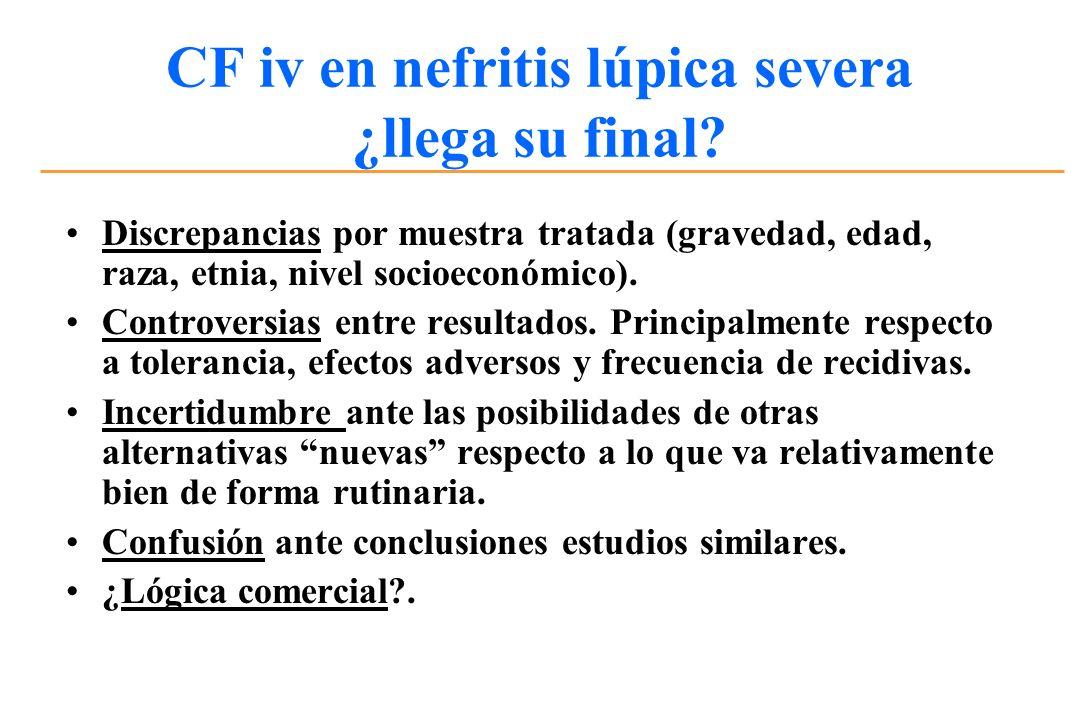 CF iv en nefritis lúpica severa ¿llega su final