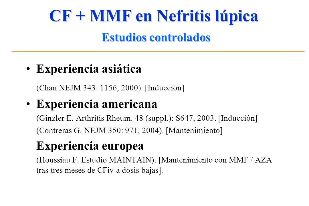 CF + MMF en Nefritis lúpica Estudios controlados