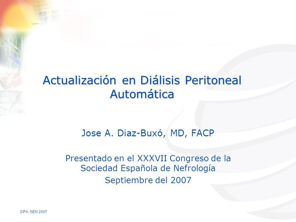Actualización en Diálisis Peritoneal Automática