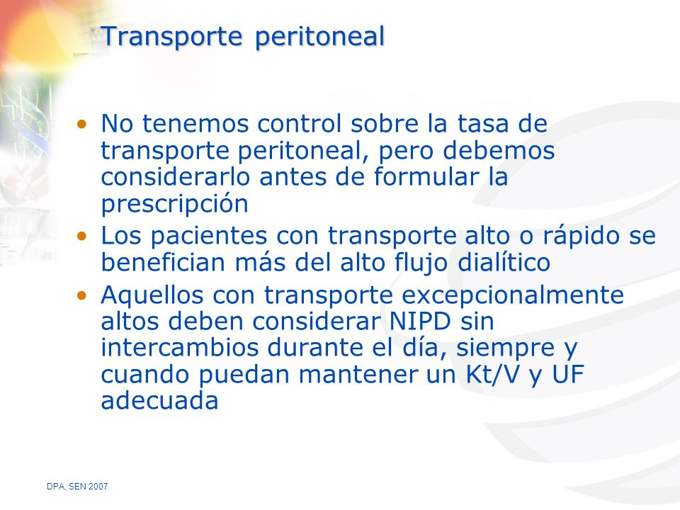 Transporte peritoneal