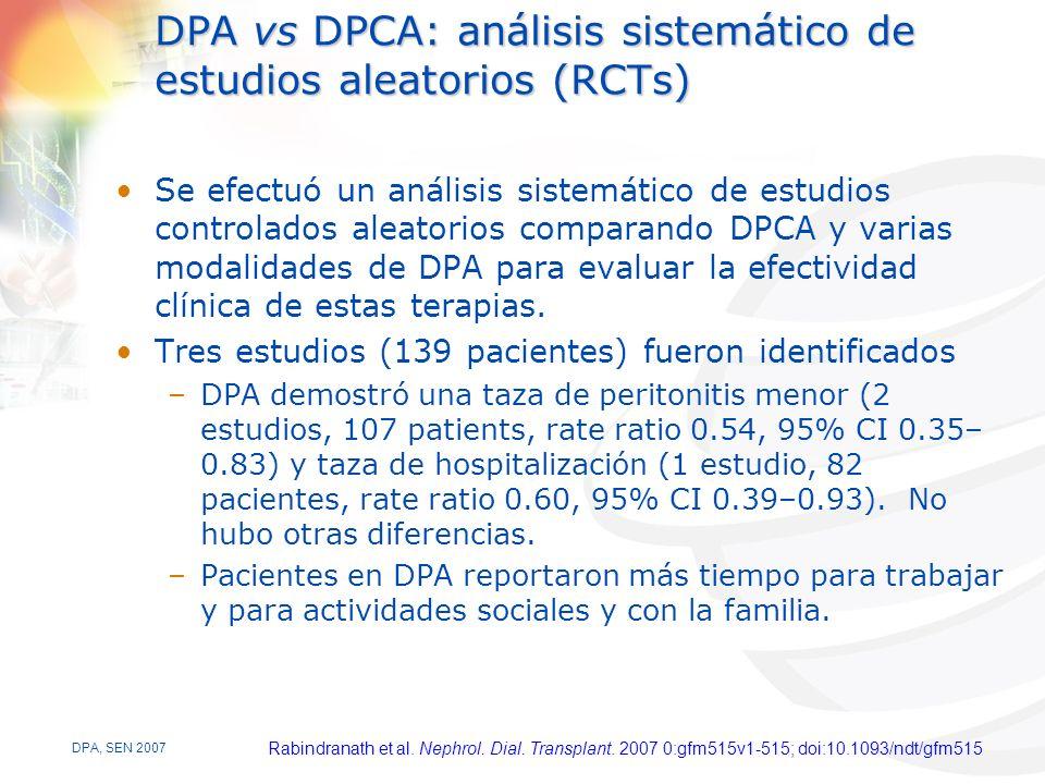 DPA vs DPCA: análisis sistemático de estudios aleatorios (RCTs)