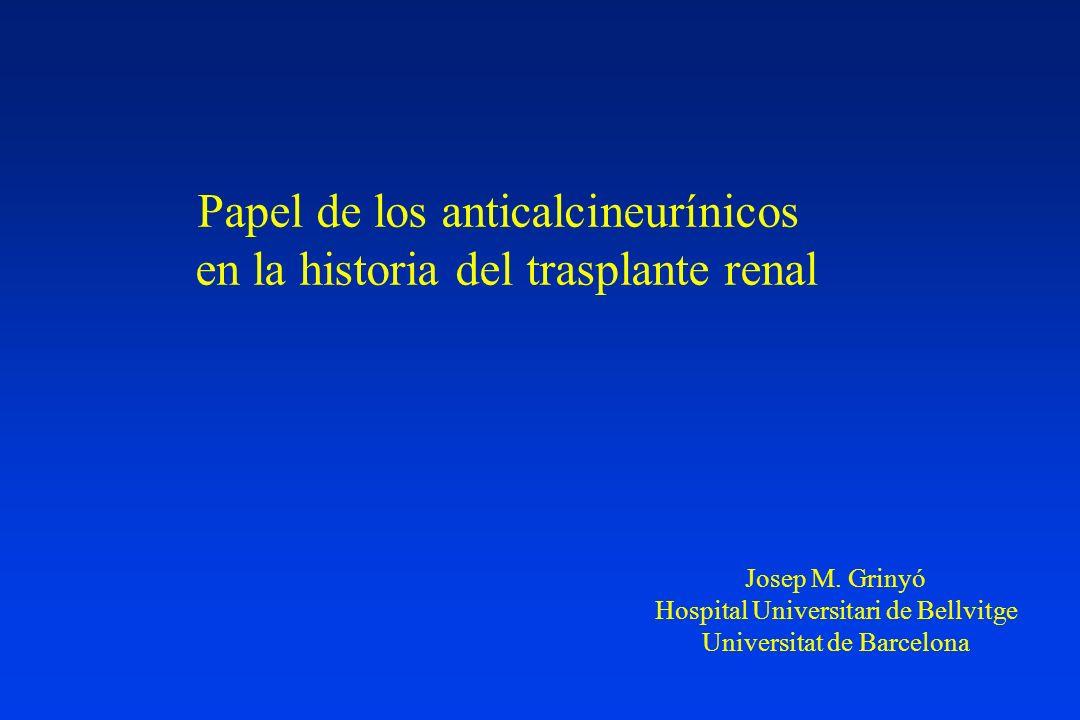 Papel de los anticalcineurínicos en la historia del trasplante renal