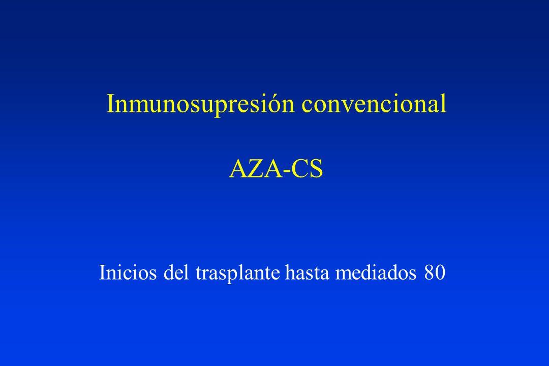 Inmunosupresión convencional