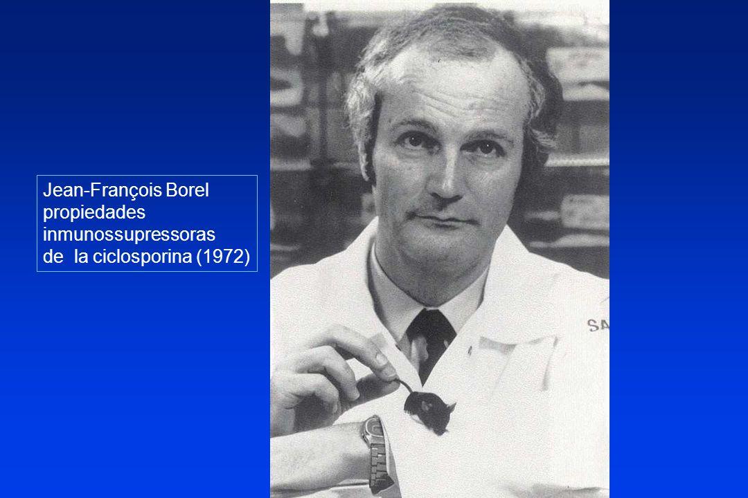 Jean-François Borel propiedades inmunossupressoras