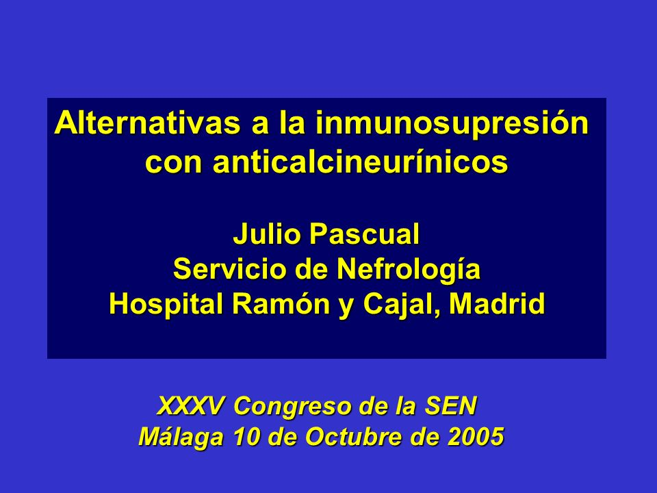 Alternativas a la inmunosupresión con anticalcineurínicos