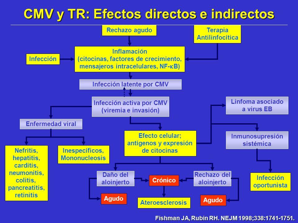 CMV y TR: Efectos directos e indirectos