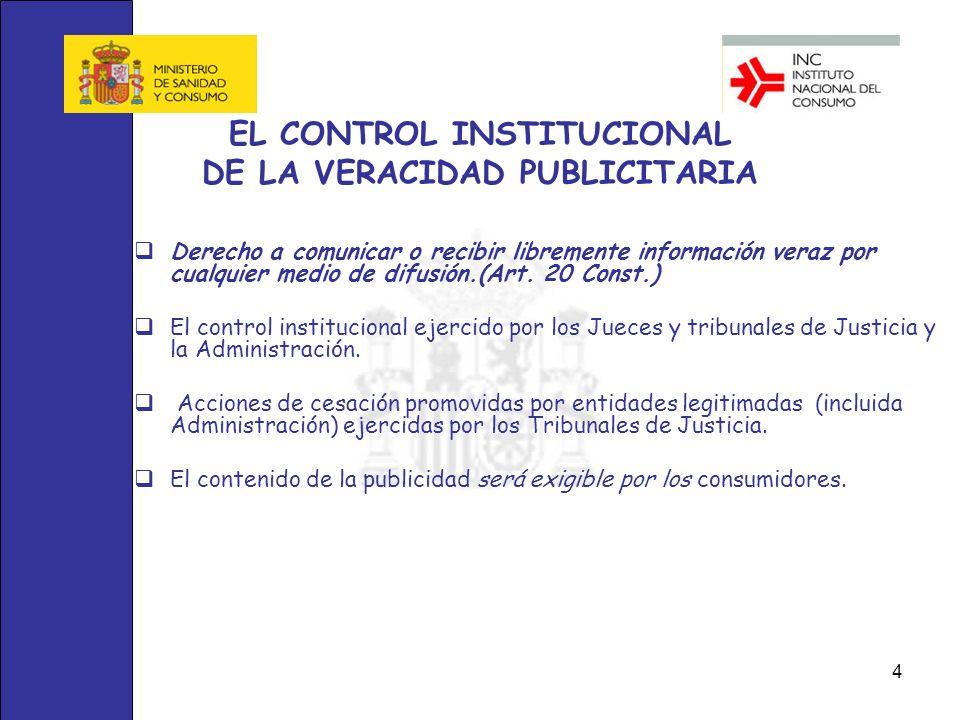 EL CONTROL INSTITUCIONAL DE LA VERACIDAD PUBLICITARIA