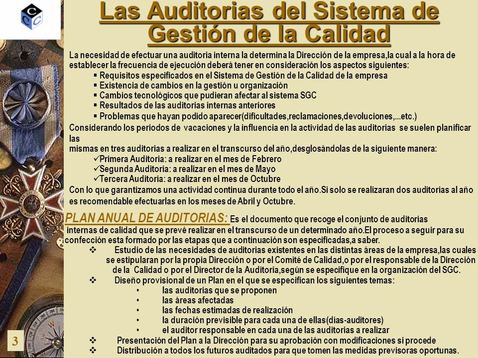 Las Auditorias del Sistema de Gestión de la Calidad