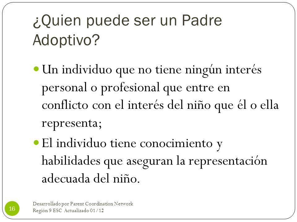 ¿Quien puede ser un Padre Adoptivo