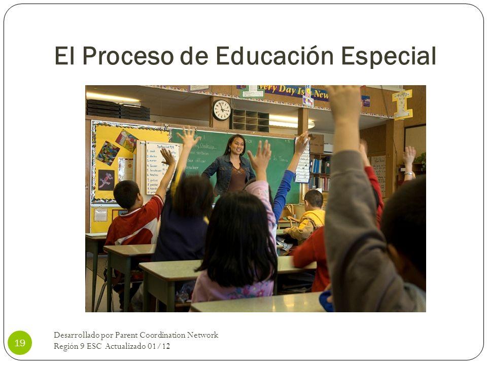 El Proceso de Educación Especial